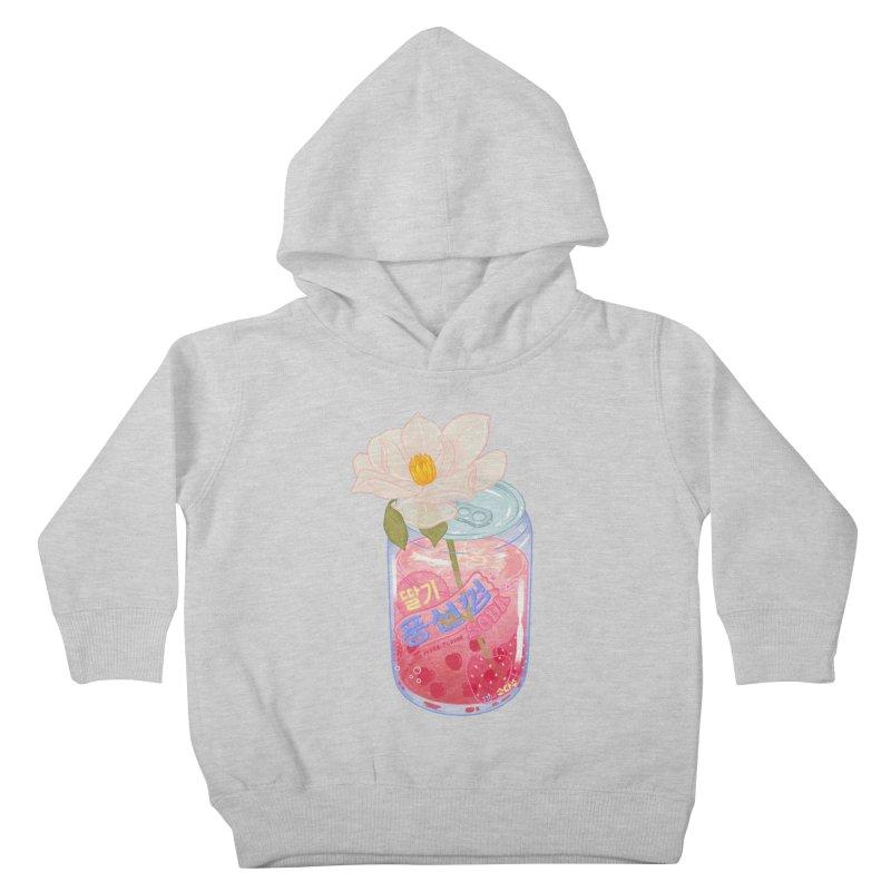 Strawberry Bubblegum Kids Toddler Pullover Hoody by Laura OConnor