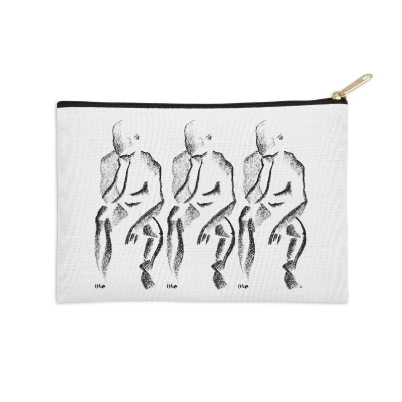 Waiting Accessories Zip Pouch by Laura OConnor's Artist Shop