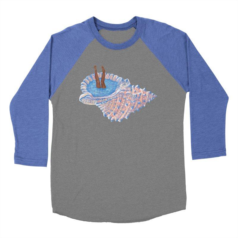Hide Away Men's Baseball Triblend T-Shirt by Laura OConnor's Artist Shop
