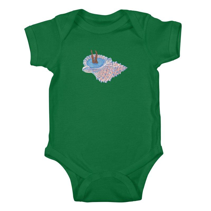 Hide Away Kids Baby Bodysuit by Laura OConnor's Artist Shop