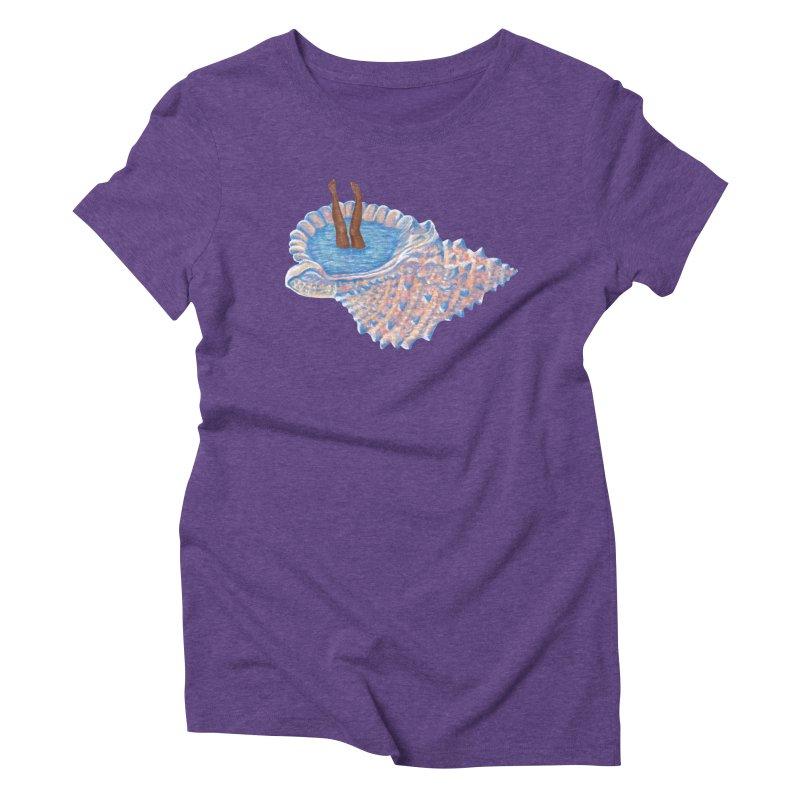 Hide Away Women's Triblend T-Shirt by Laura OConnor's Artist Shop