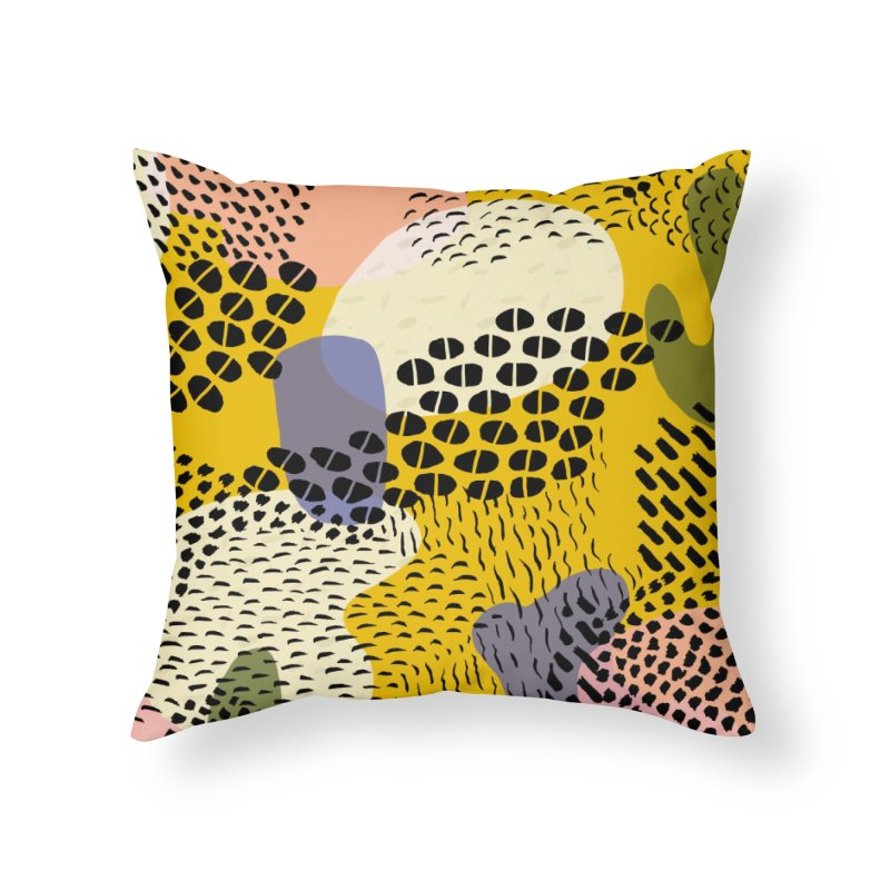 Piña Colada Home Throw Pillow by Laura OConnor's Artist Shop