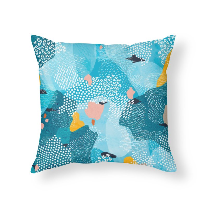 Calm Home Throw Pillow by Laura OConnor's Artist Shop