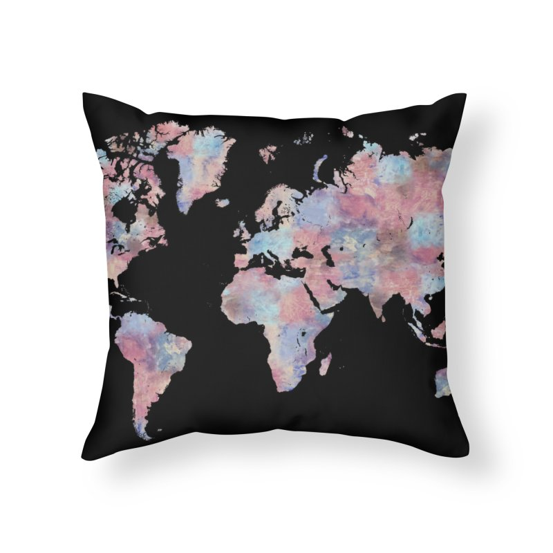 Wanderlust Home Throw Pillow by Laura OConnor's Artist Shop