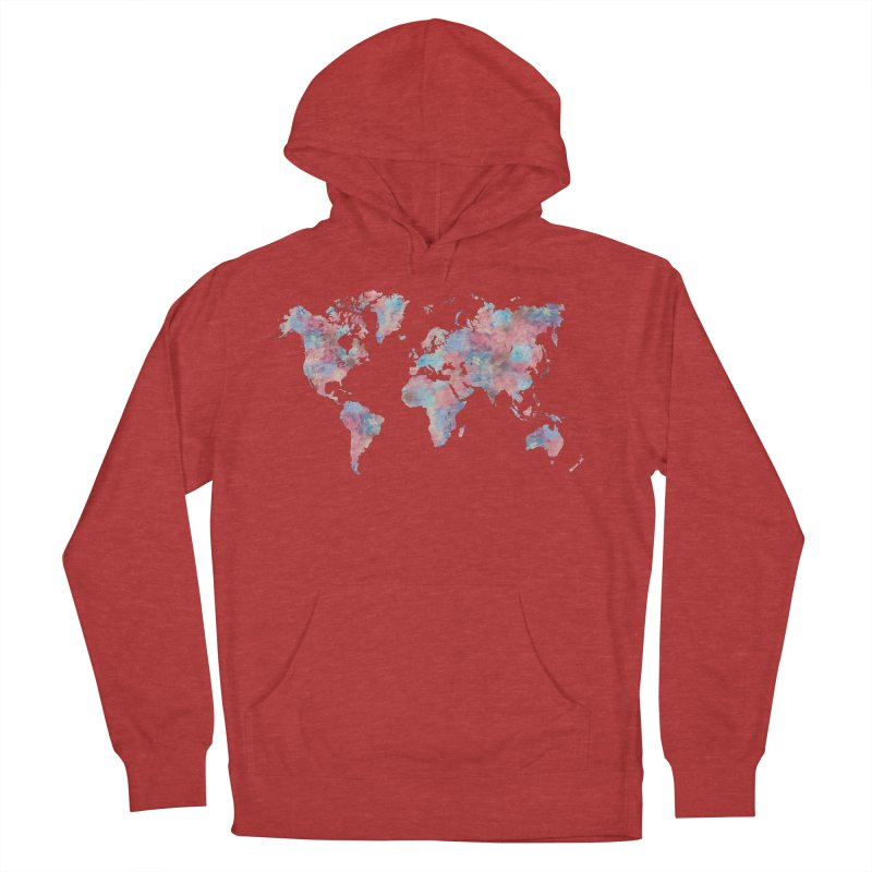 Wanderlust Men's French Terry Pullover Hoody by Laura OConnor's Artist Shop