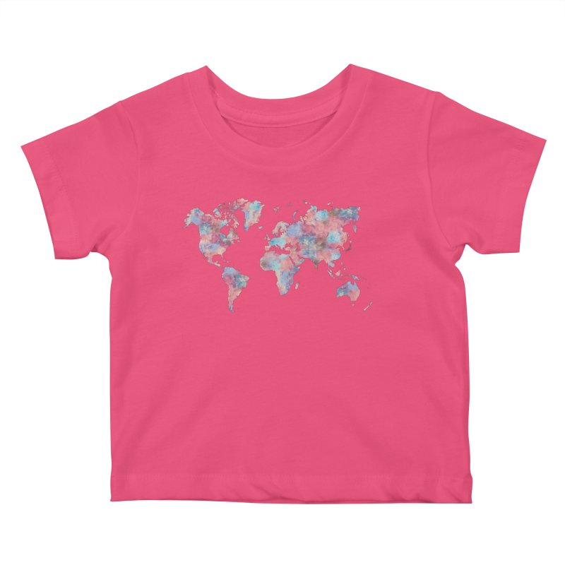 Wanderlust Kids Baby T-Shirt by Laura OConnor's Artist Shop