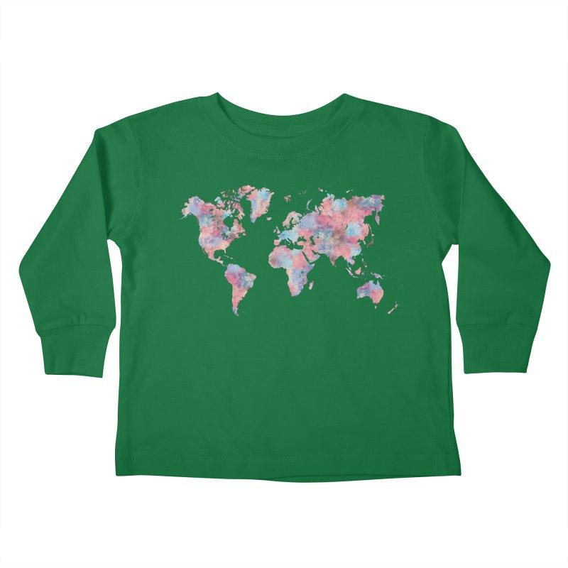 Wanderlust Kids Toddler Longsleeve T-Shirt by Laura OConnor's Artist Shop