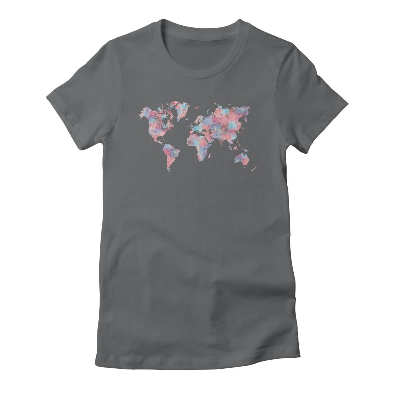 Wanderlust Women's Fitted T-Shirt by Laura OConnor's Artist Shop