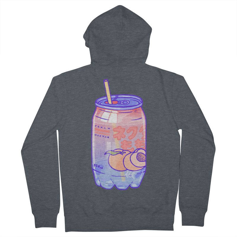 Peach Bubbles Men's French Terry Zip-Up Hoody by Laura OConnor's Artist Shop