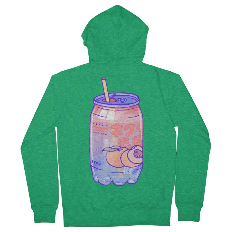 Peach Bubbles Men's Zip-Up Hoody by Laura OConnor's Artist Shop