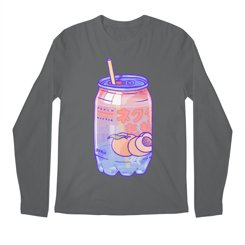 Peach Bubbles Men's Longsleeve T-Shirt by Laura OConnor's Artist Shop