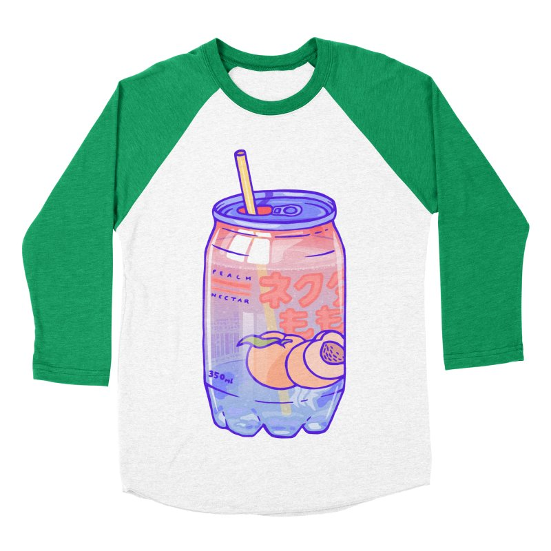 Peach Bubbles Men's Baseball Triblend T-Shirt by Laura OConnor's Artist Shop