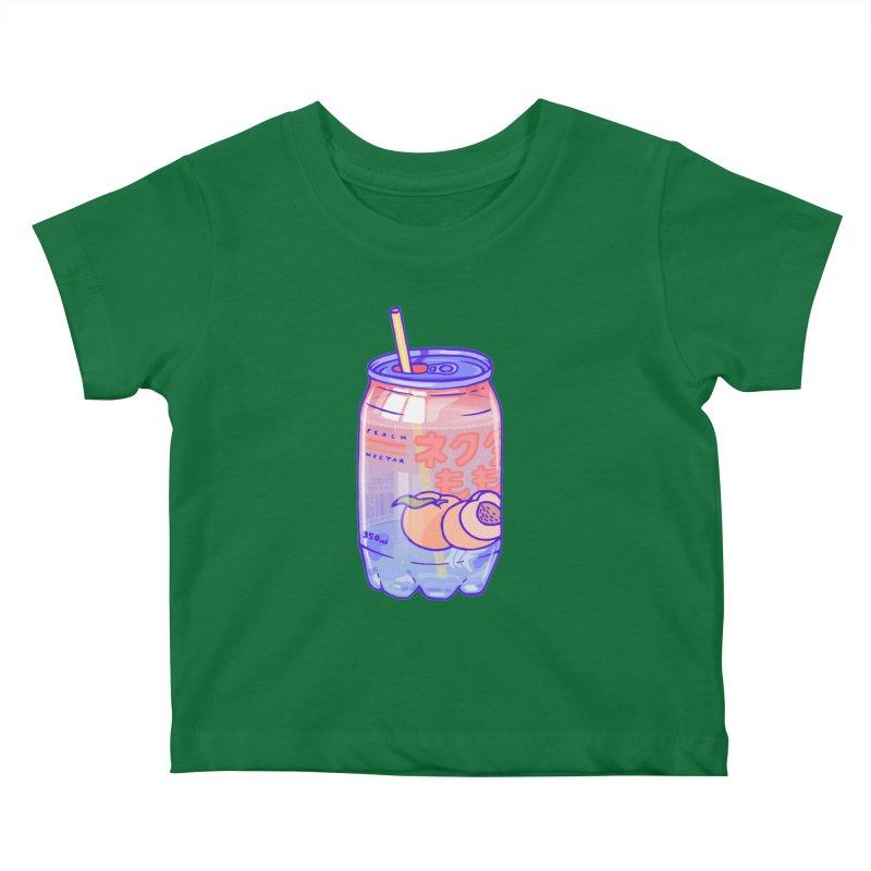 Peach Bubbles Kids Baby T-Shirt by Laura OConnor's Artist Shop