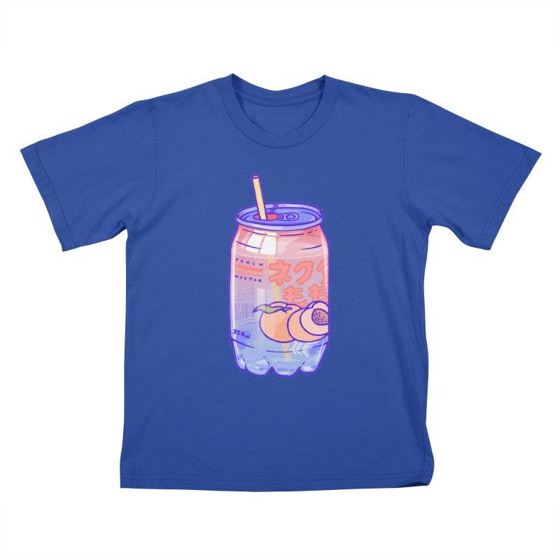Peach Bubbles Kids T-Shirt by Laura OConnor's Artist Shop