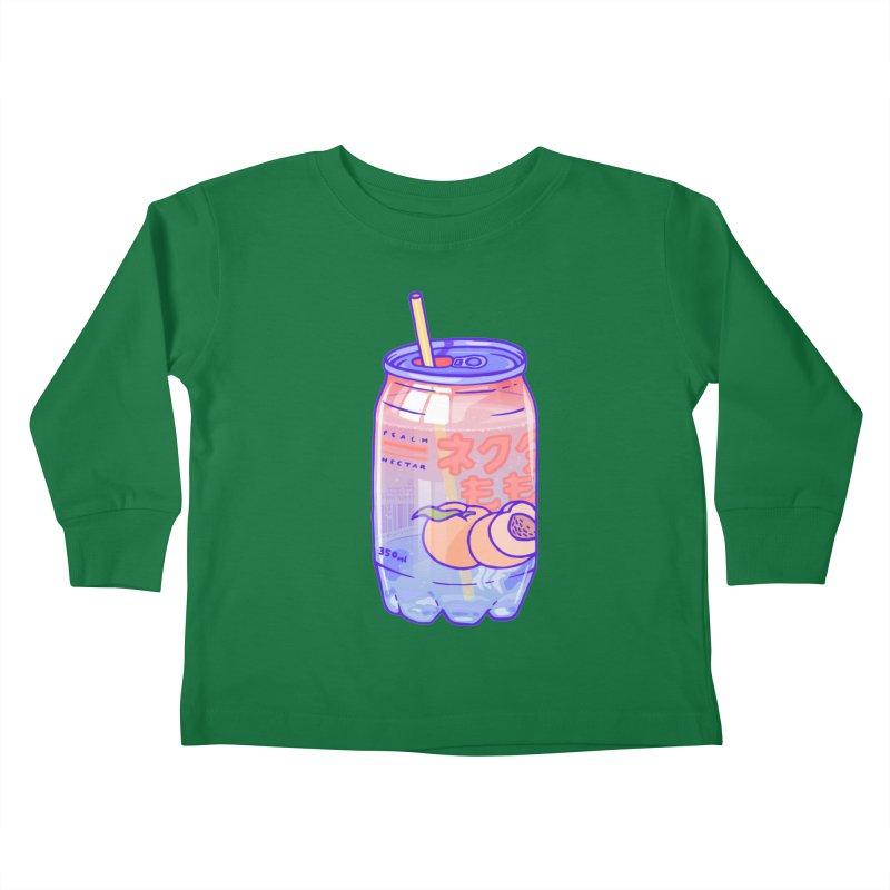 Peach Bubbles Kids Toddler Longsleeve T-Shirt by Laura OConnor's Artist Shop