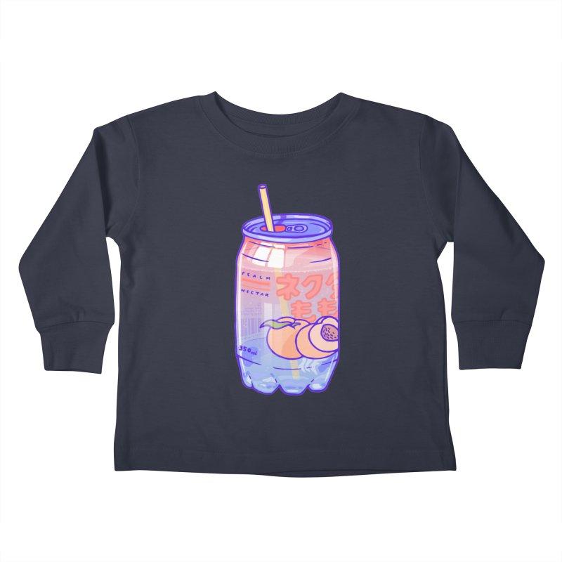 Peach Bubbles Kids Toddler Longsleeve T-Shirt by Laura OConnor