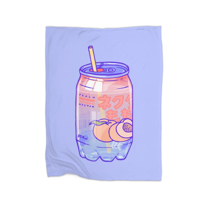 Peach Bubbles Home Blanket by Laura OConnor's Artist Shop
