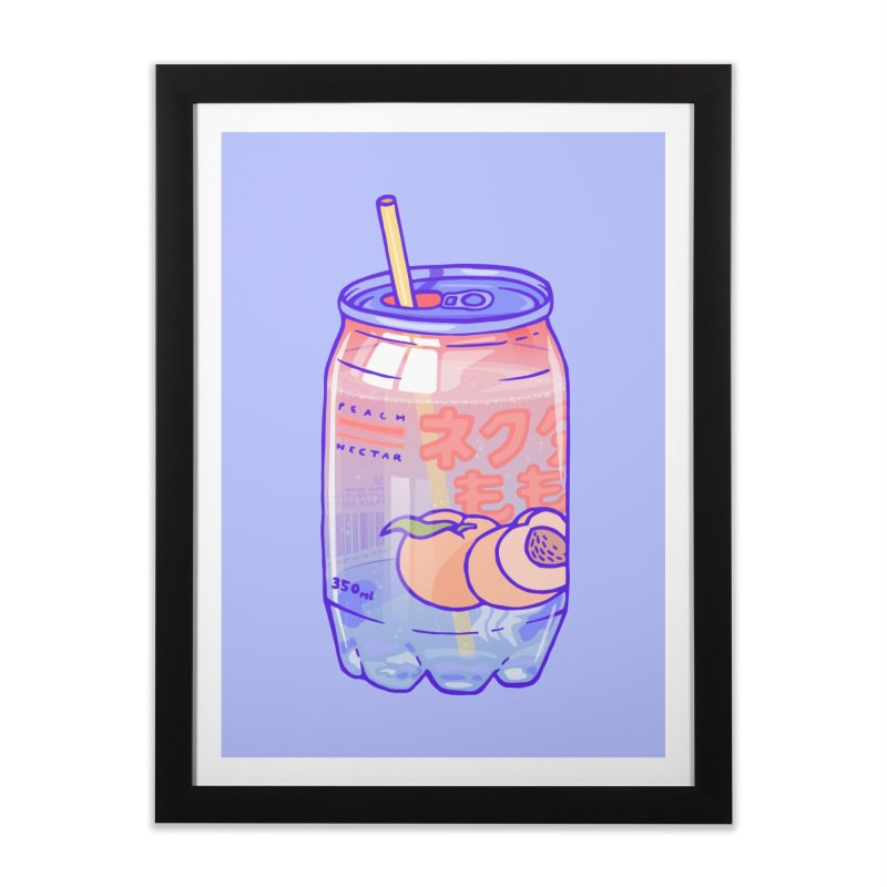 Peach Bubbles Home Framed Fine Art Print by Laura OConnor