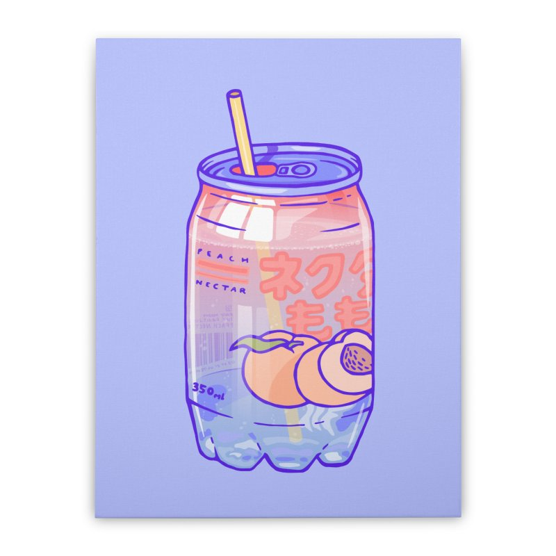 Peach Bubbles Home Stretched Canvas by Laura OConnor's Artist Shop