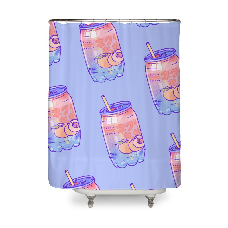 Peach Bubbles Home Shower Curtain by Laura OConnor