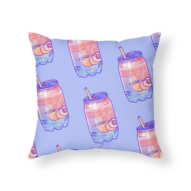 Peach Bubbles Home Throw Pillow by Laura OConnor's Artist Shop