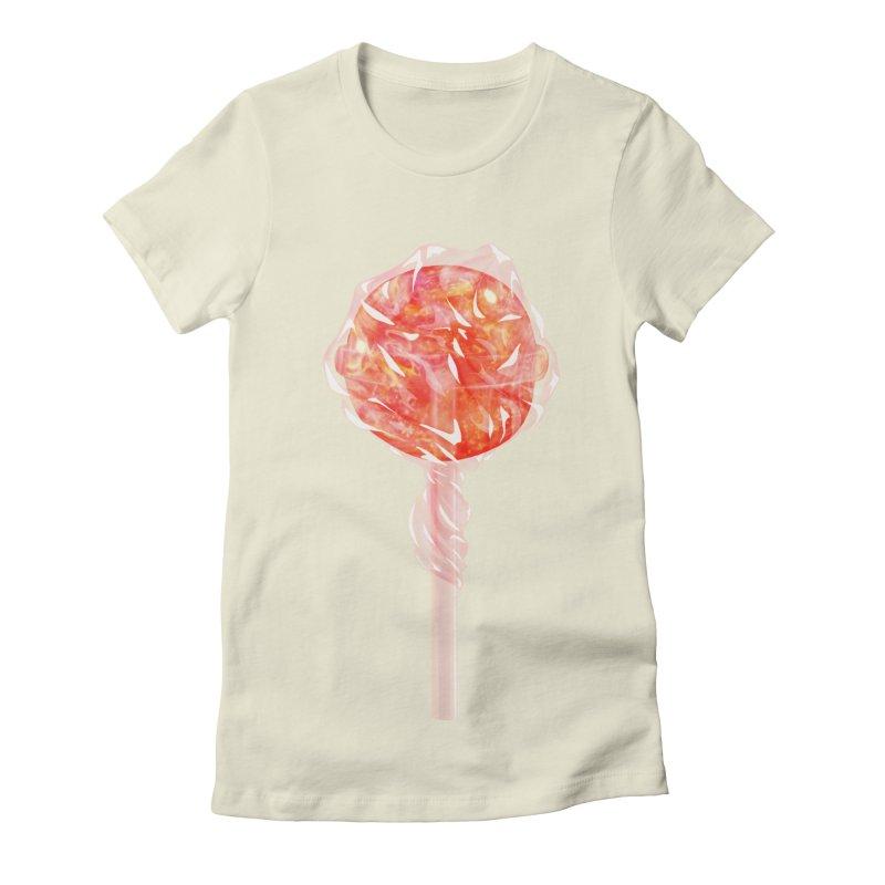 Sunshine Sucker Women's Fitted T-Shirt by Laura OConnor's Artist Shop