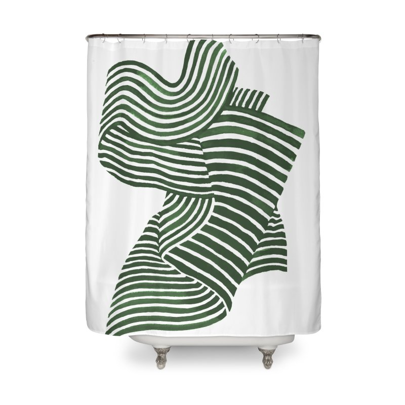 Movement Home Shower Curtain by Laura OConnor