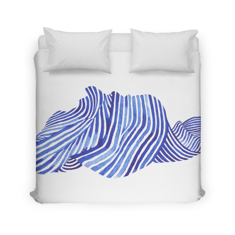 Waves Home Duvet by Laura OConnor