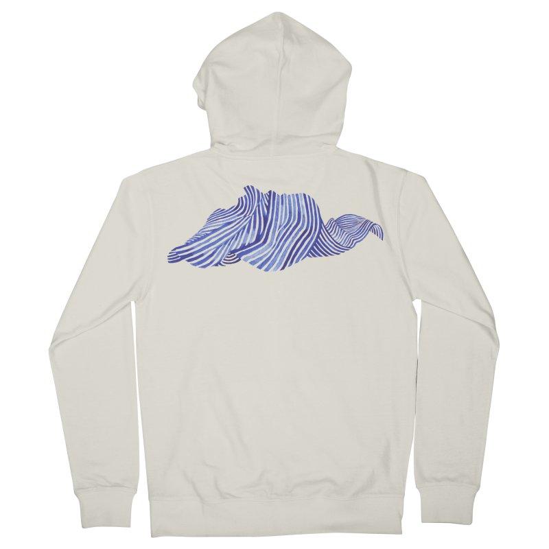 Waves Men's Zip-Up Hoody by Laura OConnor's Artist Shop