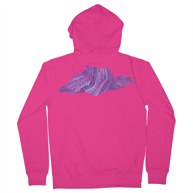 Waves Men's French Terry Zip-Up Hoody by Laura OConnor's Artist Shop