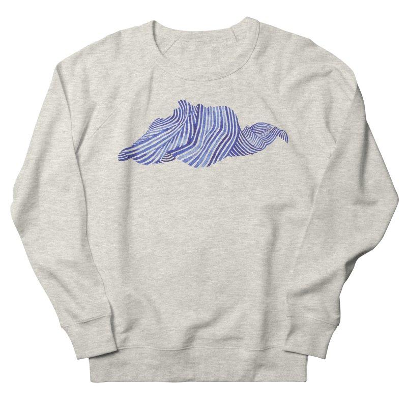 Waves Women's French Terry Sweatshirt by Laura OConnor's Artist Shop