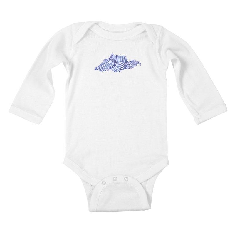 Waves Kids Baby Longsleeve Bodysuit by Laura OConnor's Artist Shop