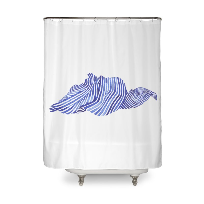 Waves Home Shower Curtain by Laura OConnor