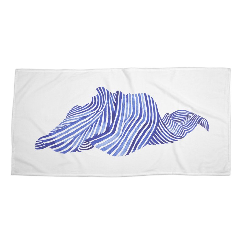 Waves Accessories Beach Towel by Laura OConnor's Artist Shop