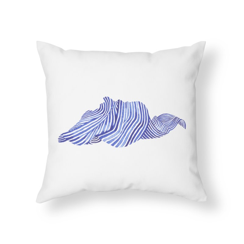 Waves Home Throw Pillow by Laura OConnor