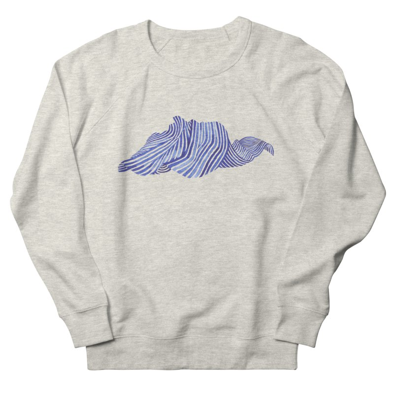 Waves Women's French Terry Sweatshirt by Laura OConnor