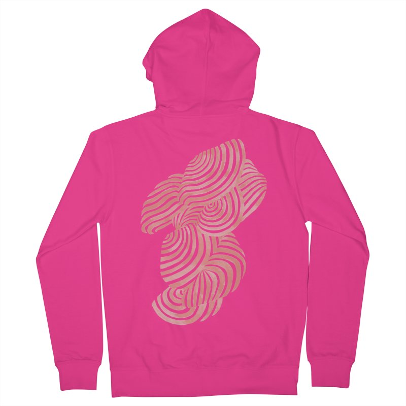 Sea Shells Men's French Terry Zip-Up Hoody by Laura OConnor