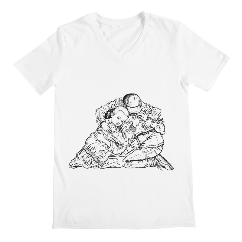 Stranger Things Men's V-Neck by Laura OConnor's Artist Shop