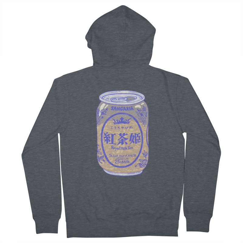 Royal Tea Men's French Terry Zip-Up Hoody by Laura OConnor's Artist Shop