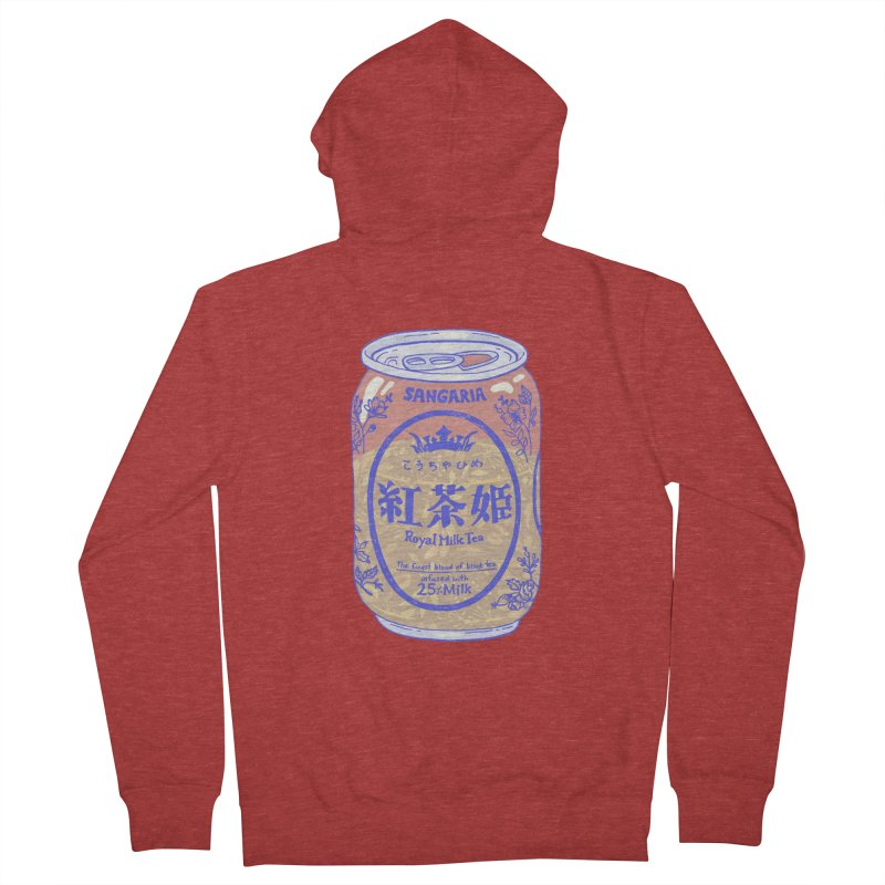 Royal Tea Men's French Terry Zip-Up Hoody by Laura OConnor