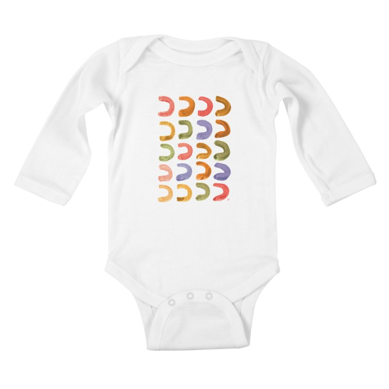 Fruit Loops Kids Baby Longsleeve Bodysuit by Laura OConnor