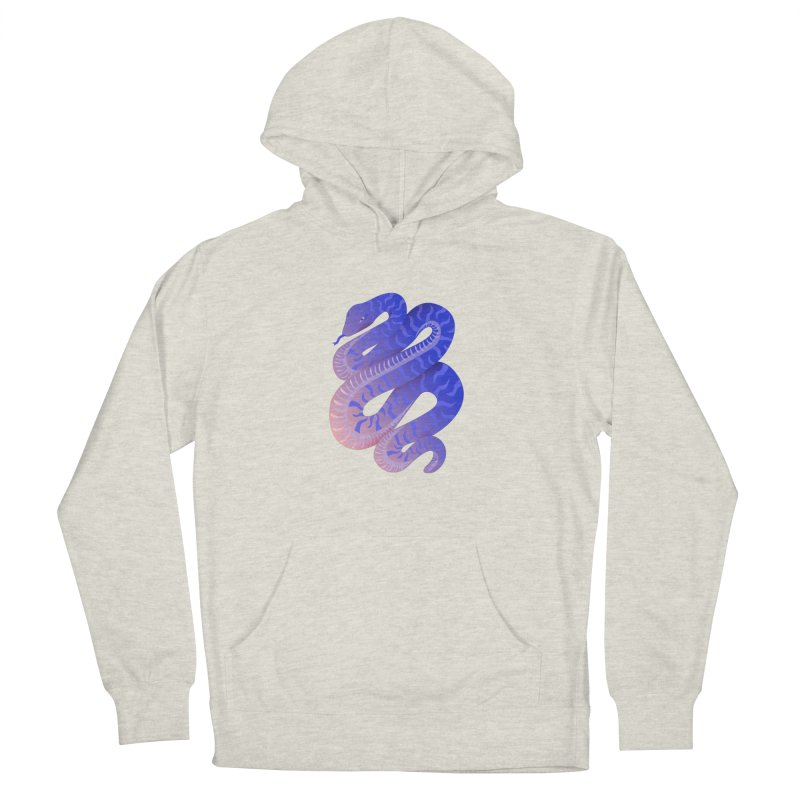 Serpent Men's French Terry Pullover Hoody by Laura OConnor's Artist Shop