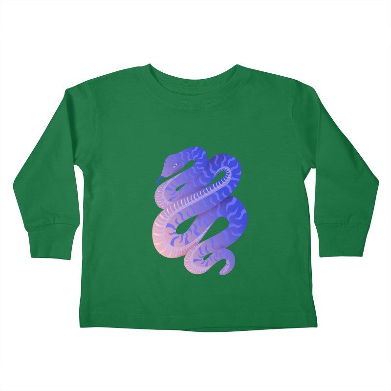 Serpent Kids Toddler Longsleeve T-Shirt by Laura OConnor's Artist Shop