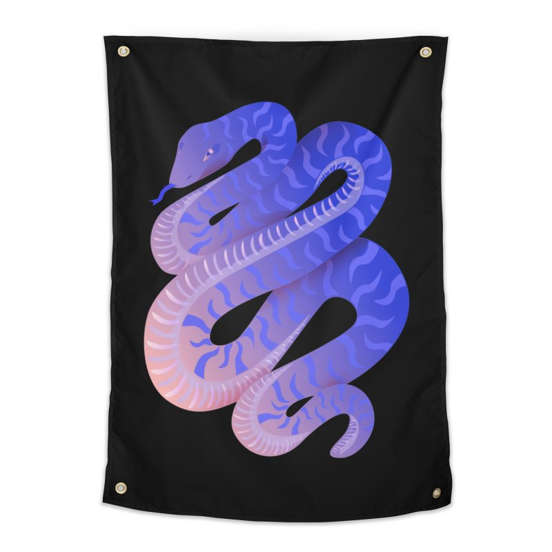 Serpent Home Tapestry by Laura OConnor