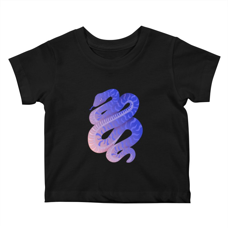 Serpent Kids Baby T-Shirt by Laura OConnor