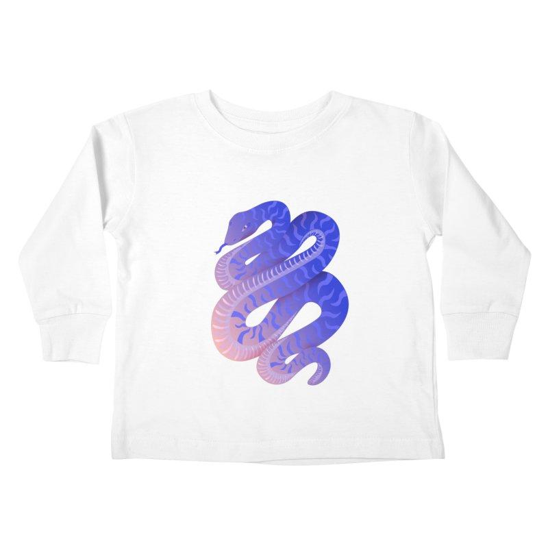 Serpent Kids Toddler Longsleeve T-Shirt by Laura OConnor