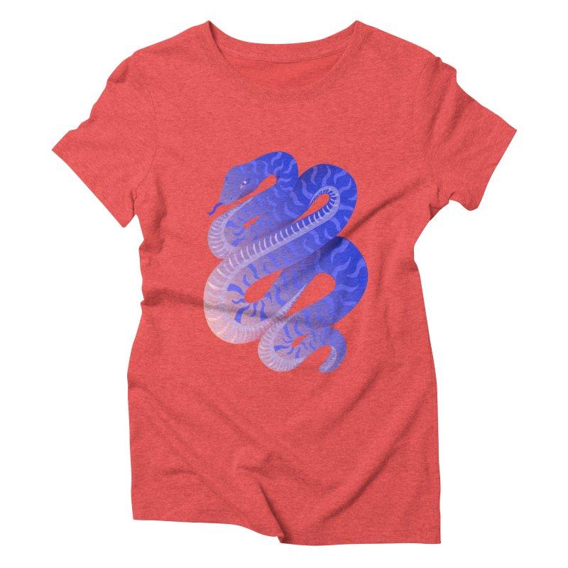 Serpent Women's Triblend T-Shirt by Laura OConnor