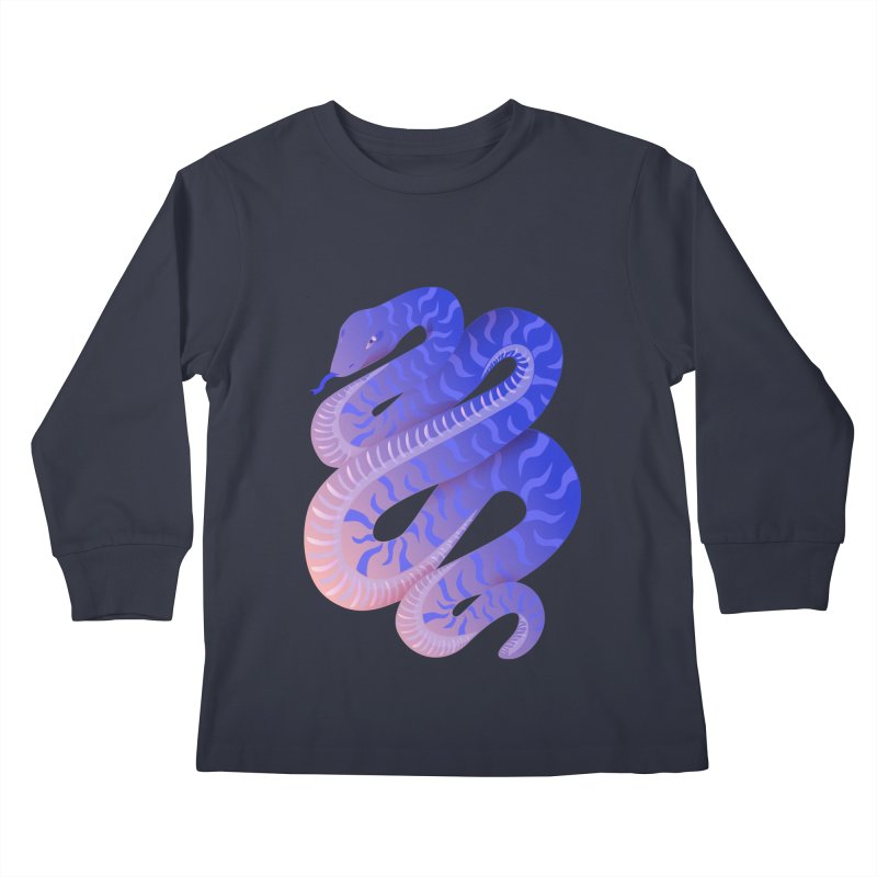 Serpent Kids Longsleeve T-Shirt by Laura OConnor