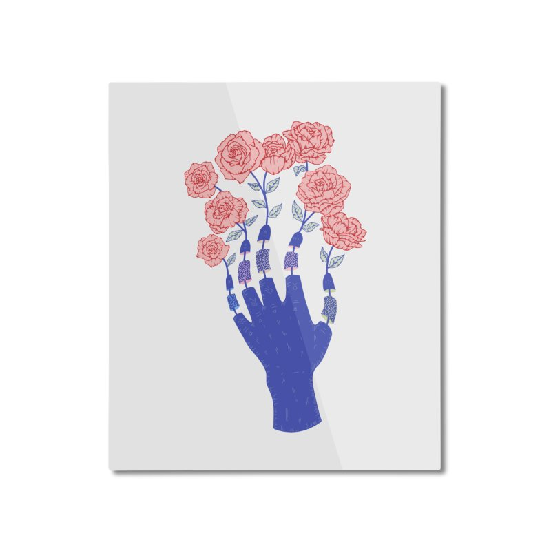 Grow Home Mounted Aluminum Print by Laura OConnor