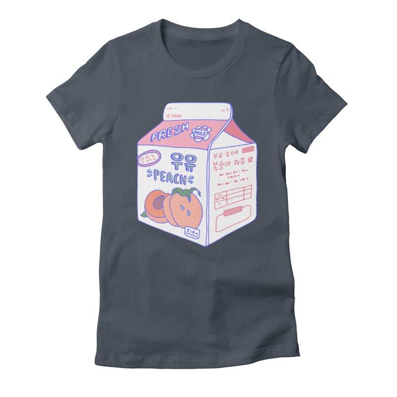 Peach Milk Women's T-Shirt by Laura OConnor